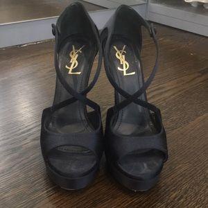{Yves Saint Laurent} Dark Navy Evening Heels